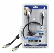 HDMI kabel HQ High Speed met ethernet 0,75 m