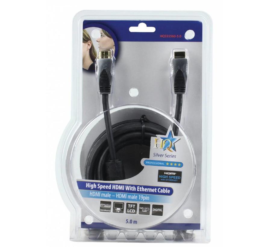 HDMI kabel Hoge kwaliteit High Speed met ethernet 5.0 m