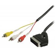 Schakelbare SCART - RCA kabel 2 meter