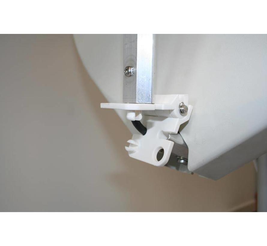 Travel Vision R6 / R7 spare part Scharnier geribbeld LNB Arm