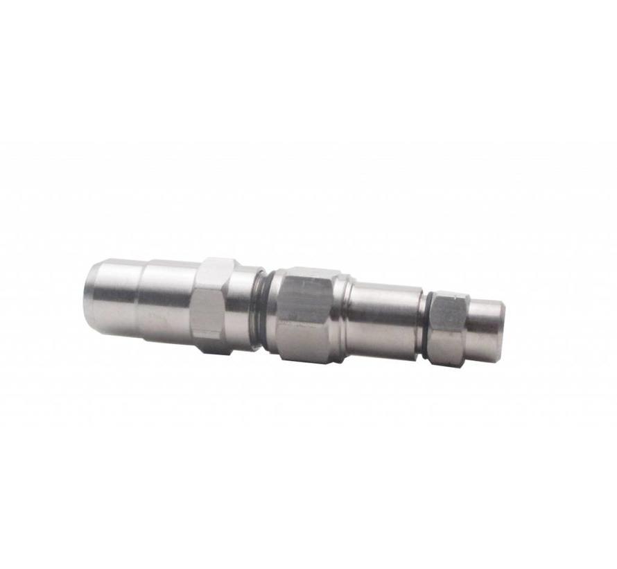 B040-A025-SPR koppelstuk Coax 6 bamboe / Coax 12