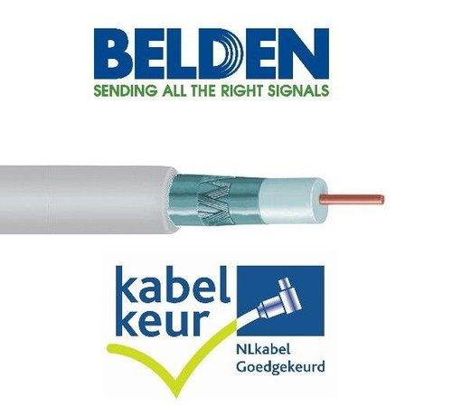 Belden Belden H125D00 coax DuoBond+ PVC met Kabelkeur kleur wit