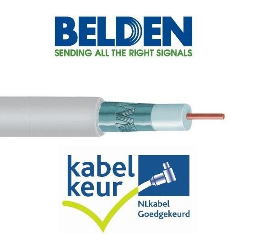 Belden H125D00 coax DuoBond+ PVC met Kabelkeur kleur wit