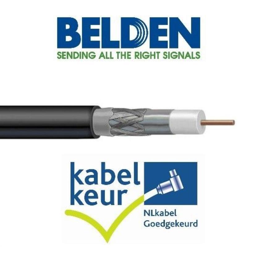 Belden H125D00 coax DuoBond PVC met Kabelkeur kleur zwart