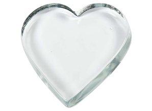 massief glazen hart