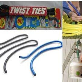 Solutions Solutions 6er Set XXL Twist Ties Universalhaken Binder blau