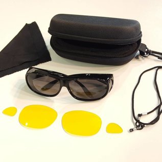 Sonnenüberbrille  UV400 Schutz+Wechselgläser 4375-BKL