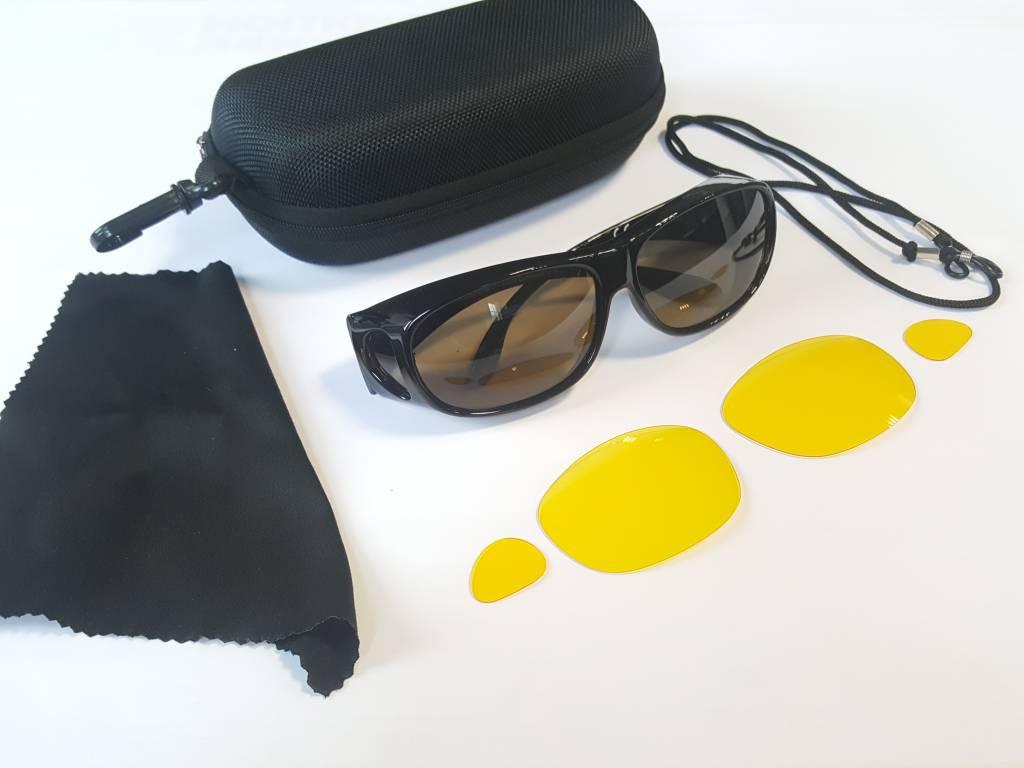Sonnenüberbrille UV400 Schutz+Wechselgläser 4375 BA