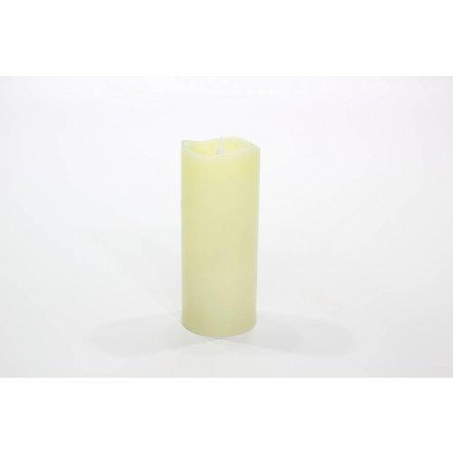 3D-Kerze mit Flackereffekt mit Wellenrand 18 cm 2588