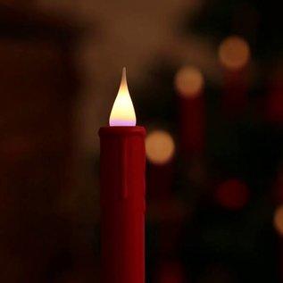 Elambia 10er-Set Weihnachtsbaumkerzen  3D-Flamme Timer rot