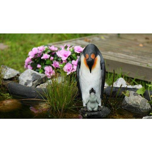 Märchenwald Märchenwald Pinguin mit Baby Showmuster