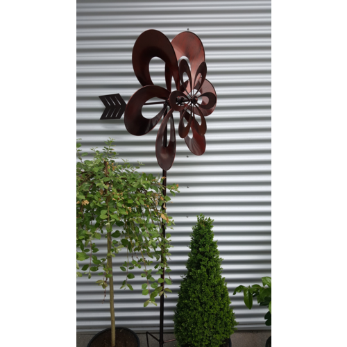Garten Windspiel Metall Blume- 02862 rot