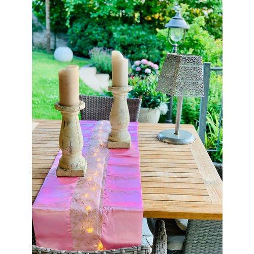 Weihnachtlicher Tischläufer mit LED-Beleuchtung & Timer