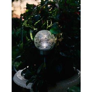 Solithia 6er-Set  Solarleuchten mit krackeliertem Glasball-07788