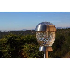 4er-Set Solithia Solarleuchte Kristall mit Booster 3WS Midi- 07112