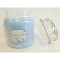 Baumwollfrische Duftkerze im Glas 411 Gramm