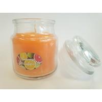 Sonnige Zitrusfrüchte Duftkerze im Glas 100 Gramm