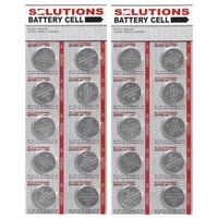SOLUTIONS Knopfzellen Lithium-Batterien CR2032, 3V 20 Stück
