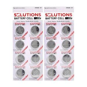 Solutions SOLUTIONS Knopfzellen Lithium-Batterien CR2450, 3V 16 Stück