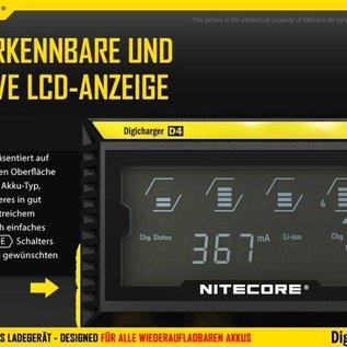 Nitecore D4EU Intelligentes Akku Ladegerät Ni-MH Li-ion LifeP04