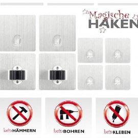 Magische Haken 8er Set Magische Haken Edelstahl-Optik