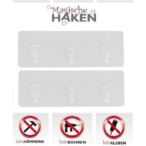 Magische Haken 2er-Set Magische Hakenleiste mit 3 Jumbo-Haken 04065