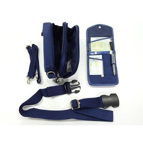 Travelon Hüfttasche mit Schultergurt & Brustbeutel - 00265-BE