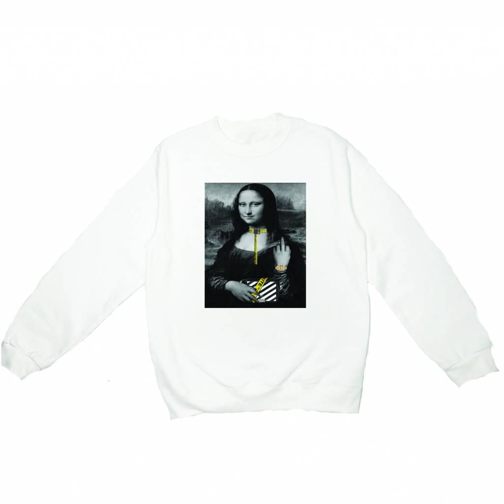 F*ck OFF sweater white