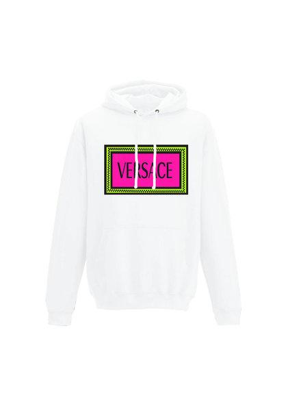 color block neon hoodie w