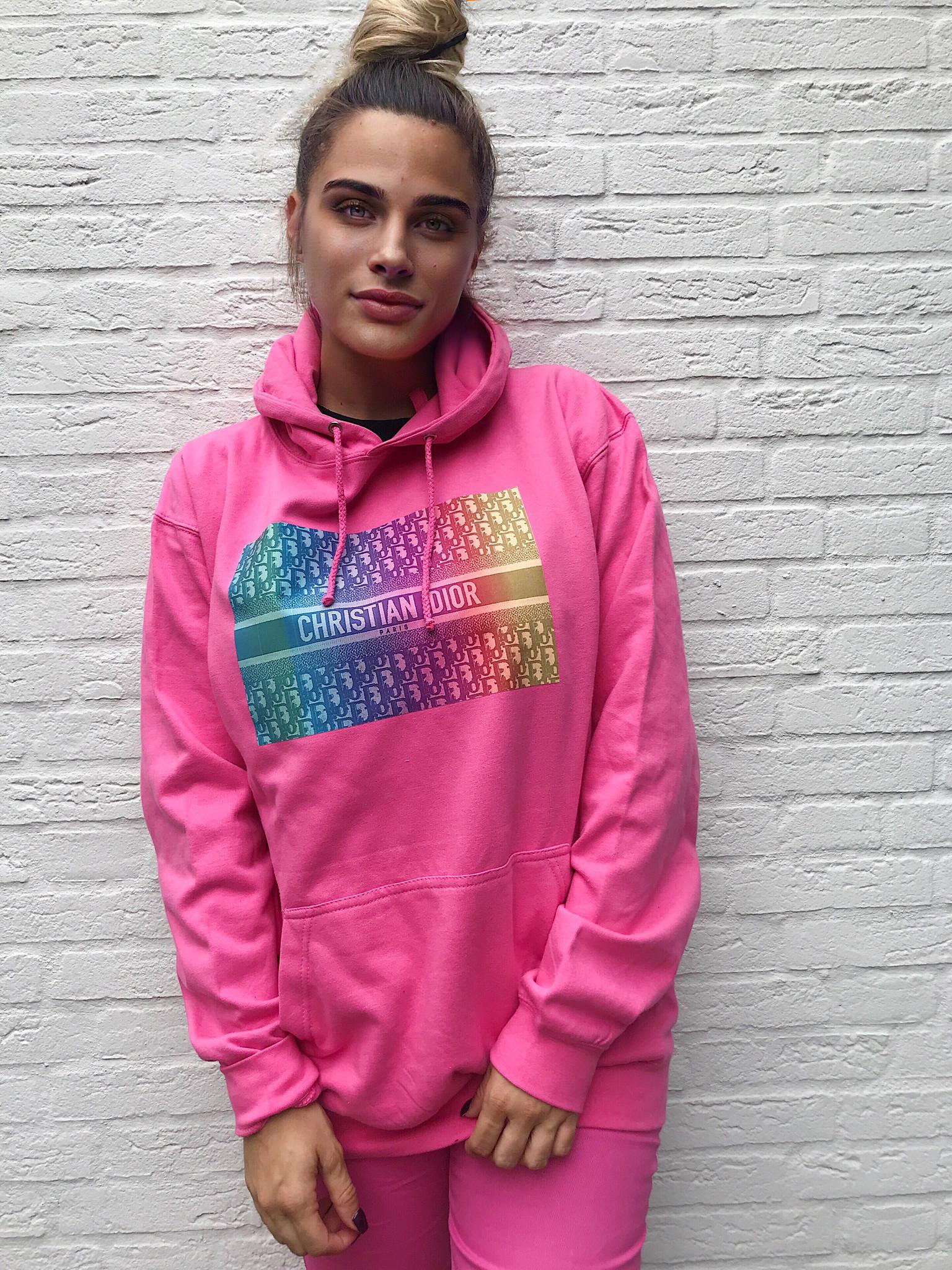 Didi rainbow hoodie pink