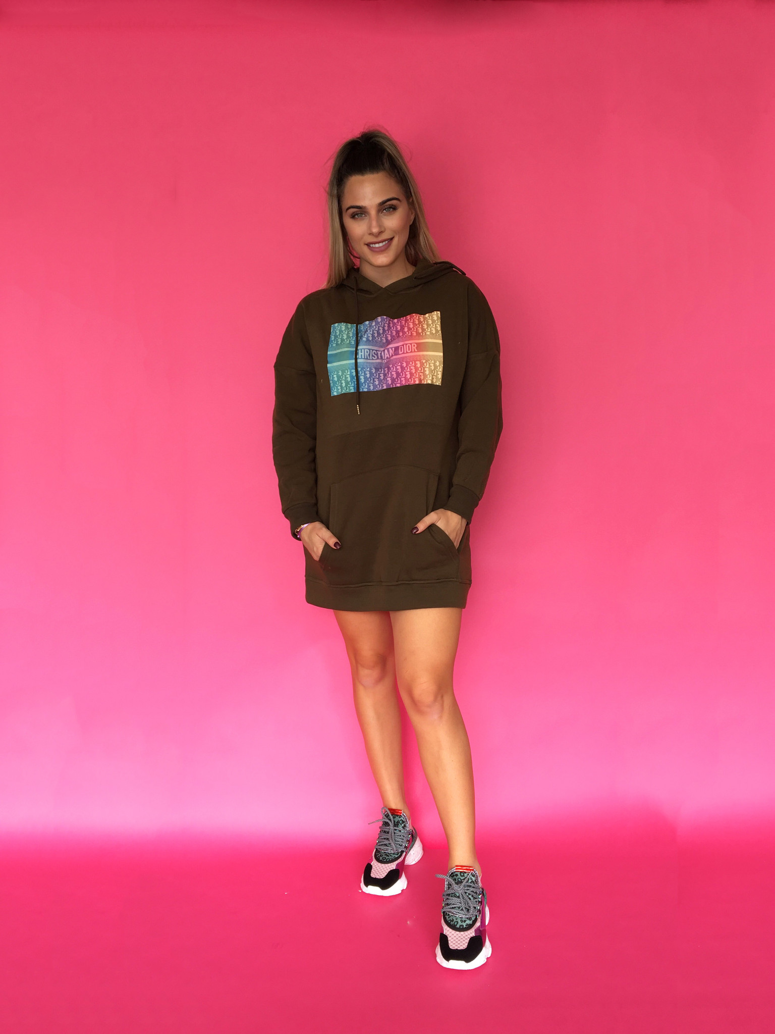 didi block hoodie dress - Copy
