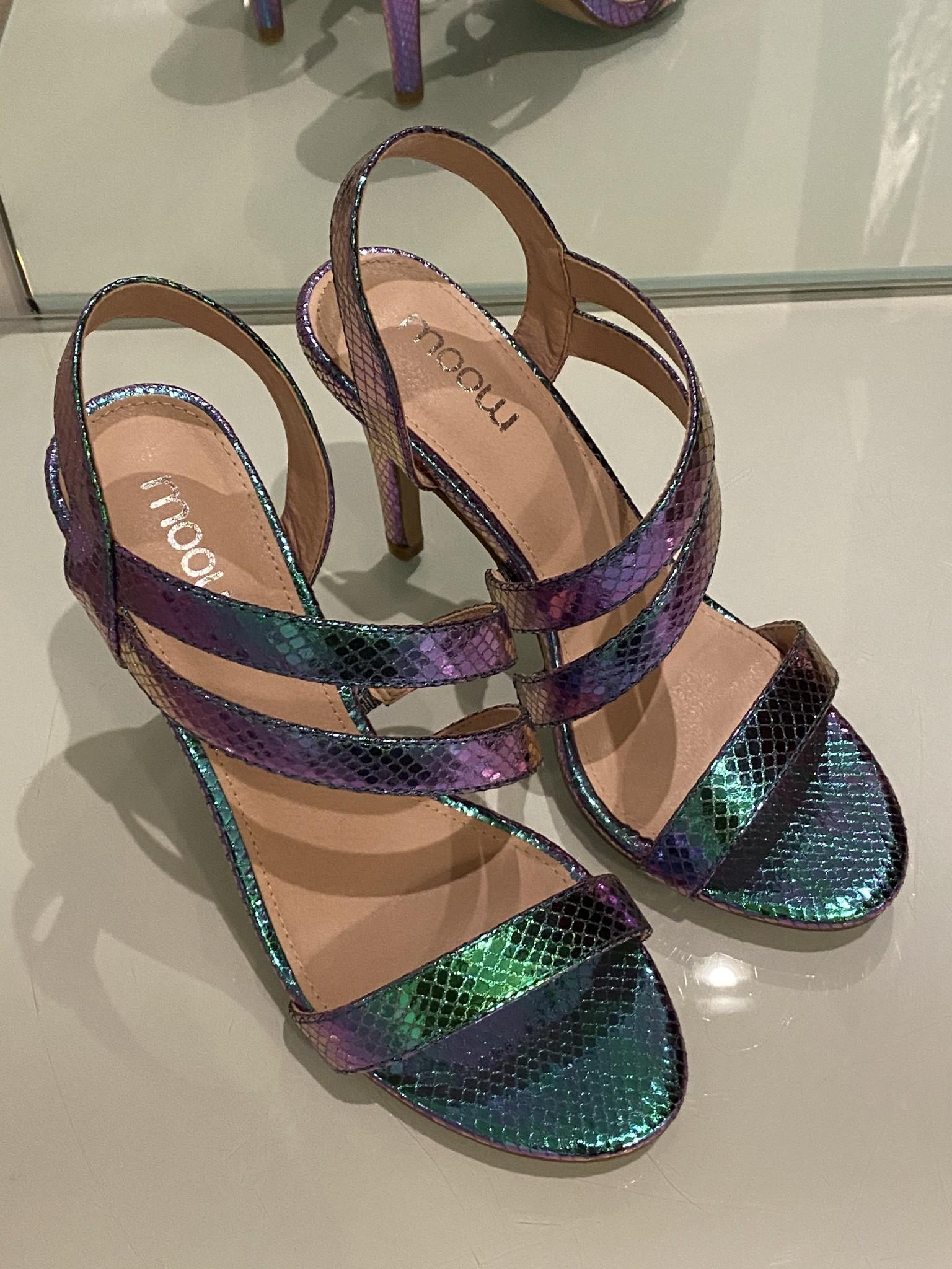 Heels blue purple