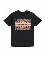 tie dye cd tee black