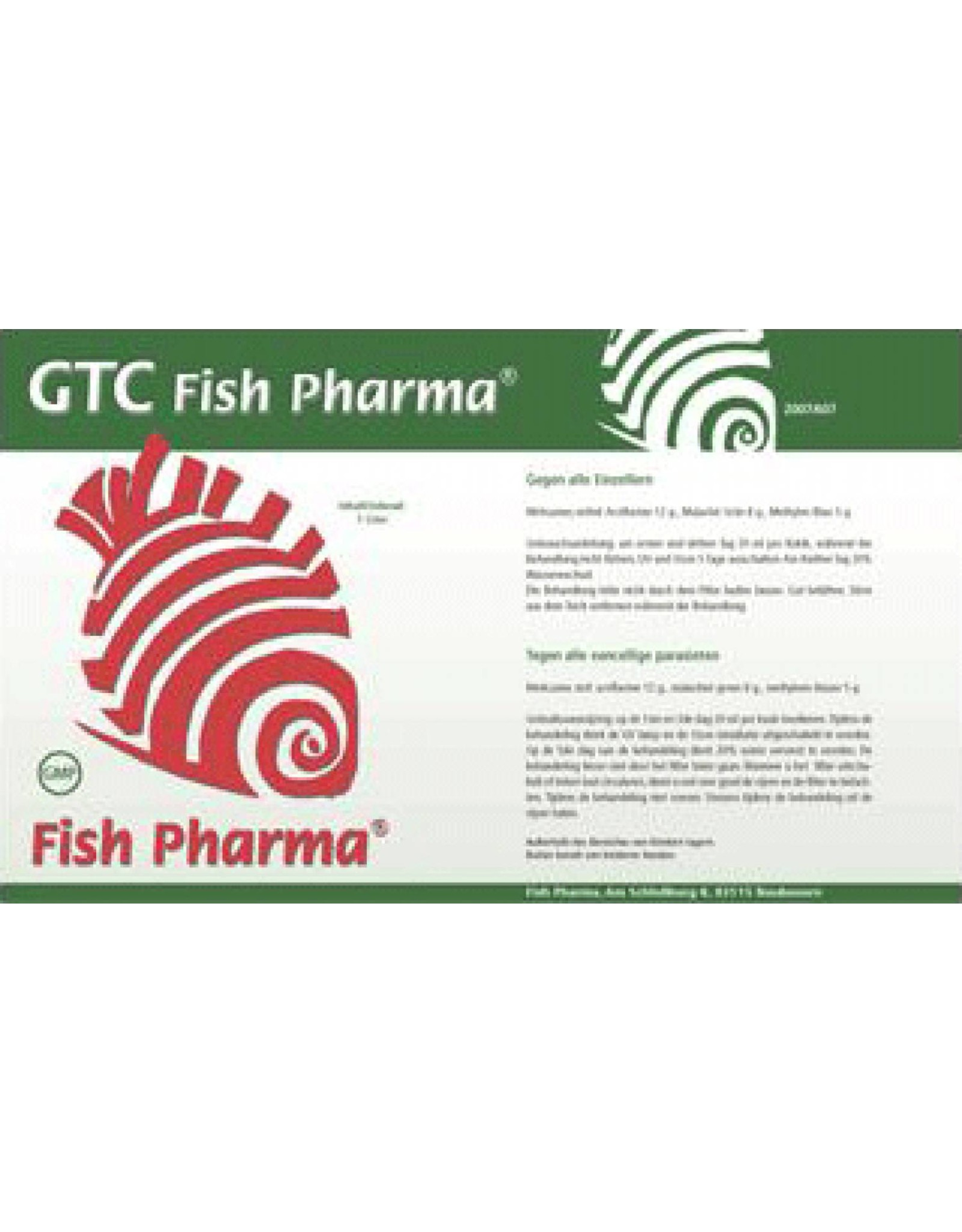 Fish Pharma GTC gegen alle einzelligen Parasiten.