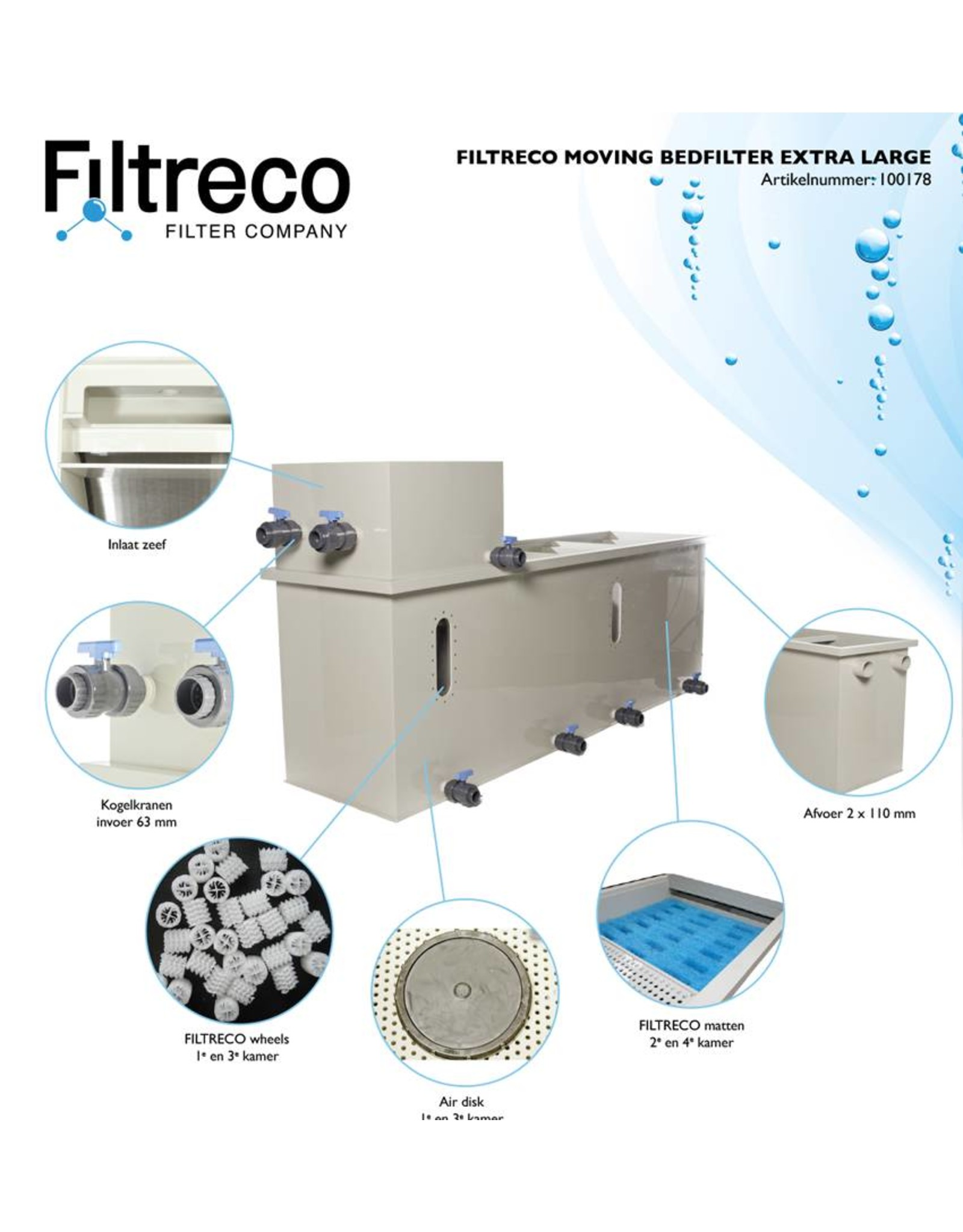 Filtreco Filtreco Moving Bed Filter Extra Large