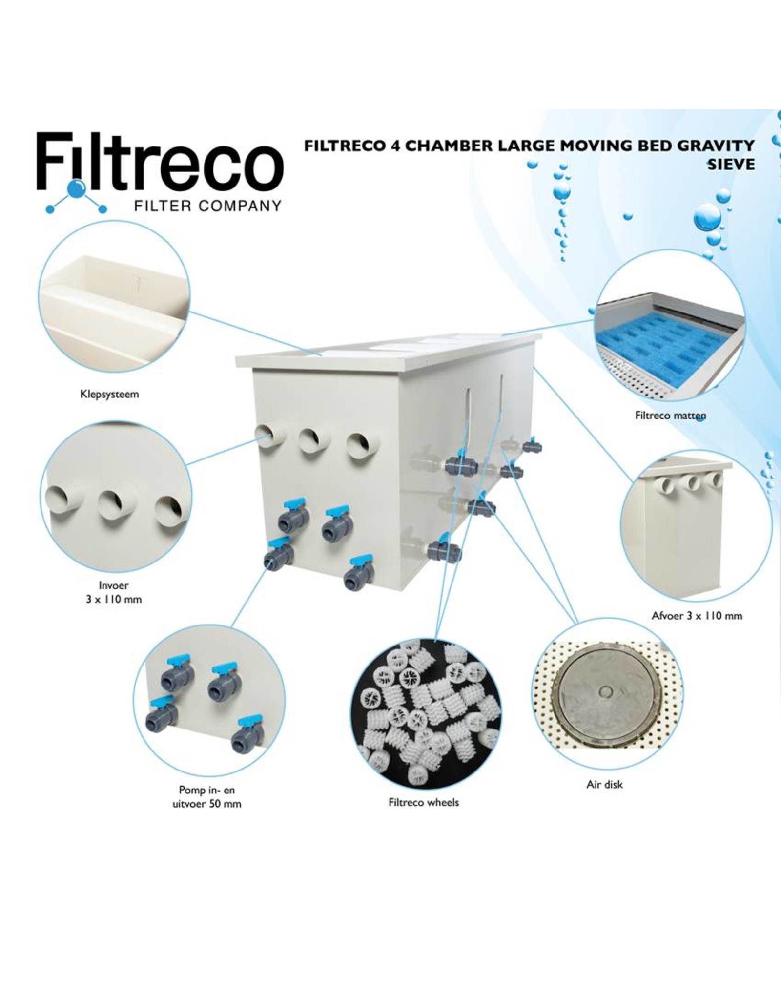 Filtreco Filtreco 4 Chamber Moving Bed Gravity Sieve Large