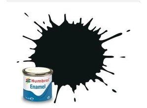 Humbrol 91 Black Green Matt - 14ml Enamel Paint