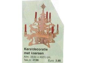 Bouwtekening kerstdecoratie met kaarsen
