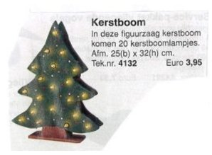Bouwtekening kerstboom
