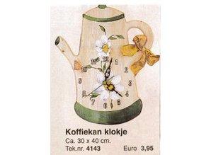 Bouwtekening koffiekan klokje