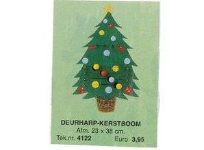 Bouwtekening deurharp kerstboom
