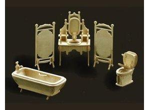 Woodcraft Poppenhuis meubels Badkamer