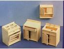 Euromini's Woodcraft Poppenhuis meubels Keuken