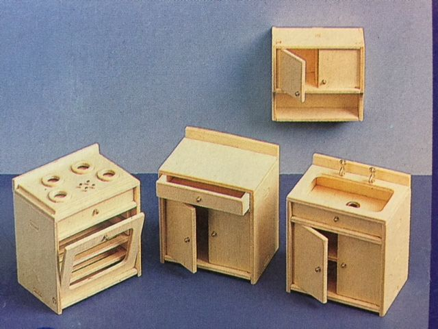 Fonkelnieuw Woodcraft Poppenhuismeubels Keuken - Euromini's RB-08