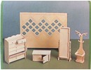 Euromini's Woodcraft Poppenhuis meubels Hal
