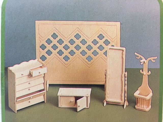 Betere Woodcraft Poppenhuismeubels Hal - Euromini's KG-46