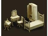 Woodcraft Poppenhuis meubels slaapkamer