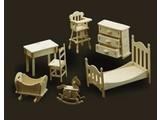 Woodcraft Poppenhuis meubels kinderkamer