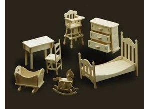 Woodcraft Poppenhuis meubelskinderkamer
