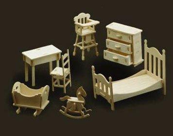 Verwonderend Woodcraft Poppenhuis meubelskinderkamer - Euromini's ZT-54
